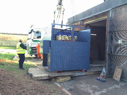 Project installation of new Air-cooled Transformer