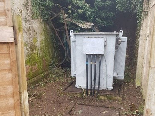 Full Transformer maintenance including removal of foliage